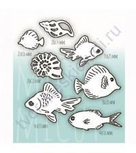 Набор ножей для вырубки Рыбы не-мы, 7 элементов