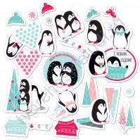 Набор высечек (вырубок) Будешь моим пингвинчиком?, плотность 190 гр/м