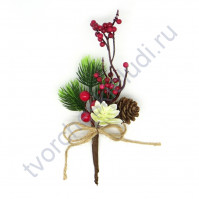 Букетик декоративный Рождественский