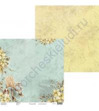Бумага для скрапбукинга двусторонняя, 30.5х30.5 см, плотность 250 гр/м2, коллекция Lovely autumn, Лист 5