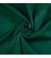 Искусственная замша Suede, плотность 230 г/м2, размер 35х50см (+/- 2см), цвет изумрудный