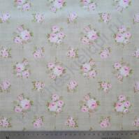 Ткань для рукоделия 100% хлопок, плотность 120г/м2, размер 55х50см (+/- 2см), цвет Винтажные розы