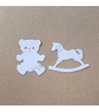 Набор вырубки из акварельной бумаги Друзья детства