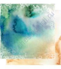 Бумага для скрапбукинга двусторонняя, коллекция Свежий ветер, лист 004