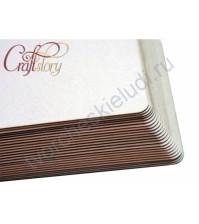 Лист пивного картона с закругленными углами, 20.4х20.4 см, толщ. 1.5 мм