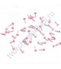 Набор брадсов 6х10 мм, 10 шт, цвет розовый