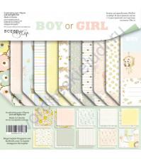 Набор бумаги Boy or Girl, 20х20 см, 190 гр/м, 11 листов