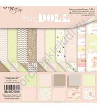 Набор бумаги для скрапбукинга Doll Baby, 20х20 см, 190 гр/м, 10 листов (ENG)