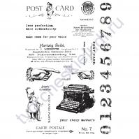 Набор резиновых штампов Carte Postale, коллекция  Art Daily Planner, 30 элементов, размер набора 10х15 см