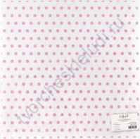 Лист кальки с флоковым напылением Розовый горошек, 30.5х30.5 см, 110 гр/м