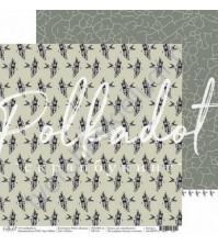 Бумага для скрапбукинга двусторонняя 30.5х30.5 см, 190 гр/м, коллекция Мир в облаках, лист Полет