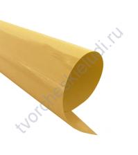 Термотрансферная пленка, цвет холодное золото,металлик, 25х25см, SC101030