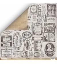 Бумага для скрапбукинга двусторонняя 30.5х30.5 см, 190 гр/м, коллекция Charming (Очарование), лист Этикетки