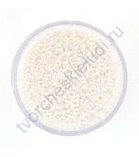 Декоративный топинг (микробисер), размер 0.6-0.8 мм, цвет белый