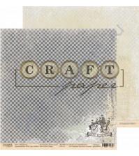 Бумага для скрапбукинга двусторонняя коллекция Джентльмен, 30.5х30.5 см, 190 гр/м, лист Bon Voyage