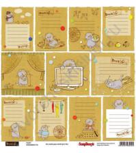 Бумага для скрапбукинга односторонняя Басик, 30.5х30.5 см 190гр/м, лист Карточки-1