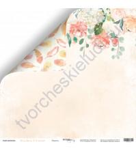 Бумага для скрапбукинга двусторонняя, коллекция Peaches and Cream, 30.5х30.5 см, 190 гр\м2, лист Радость