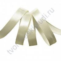 Лента атласная, 12мм, цв. св.кремовый-3004, 1 м
