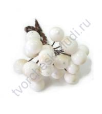 Ягодки 8 мм, 10 ягодок, цвет белый