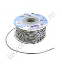Шнур эластичный метализированный (резинка) 1.5 мм, цвет серебро