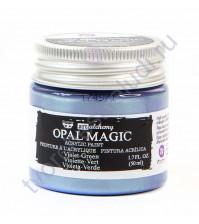 Краска акриловая двухтоновая Art Alchemy Opal Magic на водной основе, 50 мл, цвет зеленый бархат (Violet-Green)