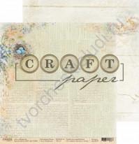 Бумага для скрапбукинга двусторонняя коллекция Пасха, 30.5х30.5 см, 190 гр/м, лист Незабудки