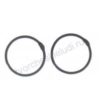 Кольца для альбомов, 2 шт, цвет чёрный, 4,5 см