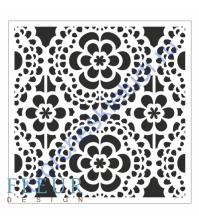 Трафарет пластиковый многоразовый Кружева, 15.5х15.5 см, толщина 0.5 мм