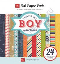 Набор бумаги That's My Boy Pads, 15х15 см, 220 гр/м, 24 листа
