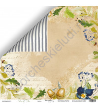 Бумага для скрапбукинга двусторонняя, коллекция Family Tree, 30.5х30.5 см, 190 гр\м2, лист Дубок