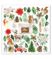 Бумага для скрапбукинга односторонняя коллекция Winter traditions, 30.5х30.5 см, 190 гр/м, лист для вырезания