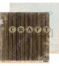 Бумага для скрапбукинга двусторонняя 30.5х30.5 см, 190 гр/м, коллекция Моя школа, лист За партой
