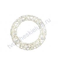 Декоративный венок круглый с глиттером 25см