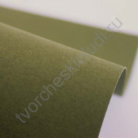 Кардсток текстурированный 30х30 см, цвет оливковый, плотность 250 гр/м2