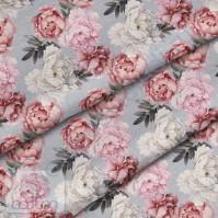 Ткань для рукоделия Арт пионы, 100% хлопок, плотность 150 гр/м2, размер отреза 50х80 см