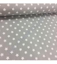 Ткань для рукоделия Звезды на сером, 100% хлопок, размер 50х50 см