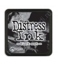 Штемпельная мини-подушечка Tim Holtz Distress Mini Ink Pads на водной основе, 2.5х2.5 см, цвет черная сажа (black soot)