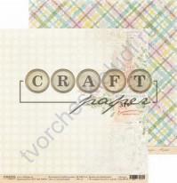 Бумага для скрапбукинга двусторонняя коллекция Голубой огонек, 30.5х30.5 см, 190 гр/м, лист Волшебство