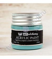 Краска акриловая Art Alchemy Metallique на водной основе, 50 мл, цвет светлая патина (Light Patina)