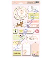 Набор вырубных элементов (чипборд) Doll Baby, 18 элементов