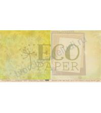 Бумага для скрапбукинга двусторонняя 30.5х30.5 см, 250 гр/м, коллекция Тропикана, лист Зарисовки