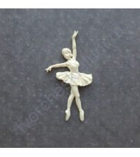 Фигурка из пластика Балерина, цвет молочный
