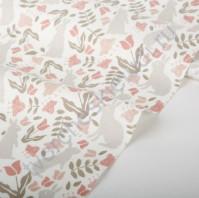 Ткань для рукоделия Botanic garden Rabbit, 100% хлопок, плотность 165 гр/м2, размер 45х55 см