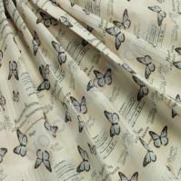 Ткань для рукоделия 100% хлопок, плотность 120г/м2, размер 48х50см (+/- 2см), коллекция Винтажные бабочки, цвет 2