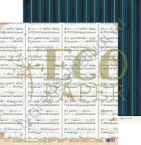 Бумага для скрапбукинга двусторонняя 30.5х30.5 см, 250 гр/м, коллекция Мемуары, лист Моя муза