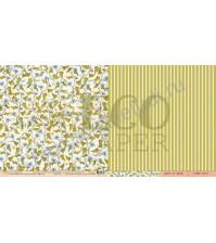 Бумага для скрапбукинга двусторонняя коллекция Атлас бабочек, 30.5х30.5 см, 250 гр/м, лист Вьюнок