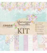 CraftPaper KIT - Цветочная вышивка