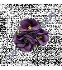 Цветочки Дикие розы фиолетовые, размер цветка 4.5 см, 3 шт