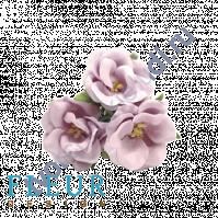 Цветочки Дикие розы сиреневые, размер цветка 4.5 см, 3 шт
