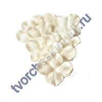 Лепестки гортензии большие 5 см, 10 шт, цвет белый